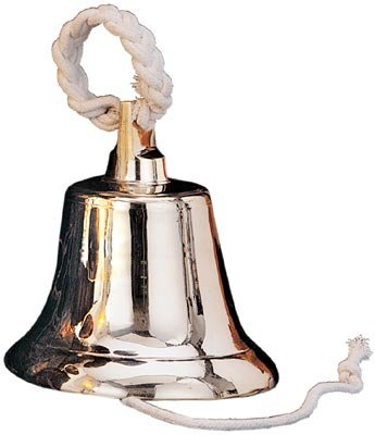 10'' Polished Brass Bell