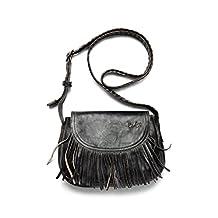 NEW Bed Stu Rustic Boho Hippie Leather Eastend Bag Black Rustic