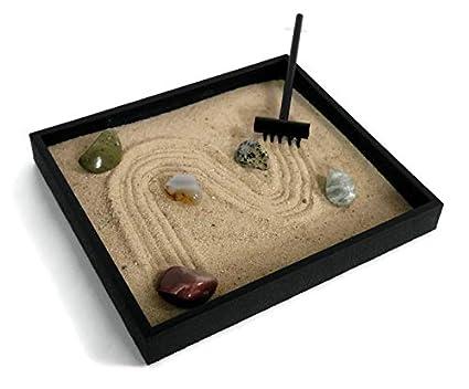 Zen office decor Zen Style Image Unavailable Amazoncom Tumbled Gemstones Zen Garden Kit For Desk Accessories