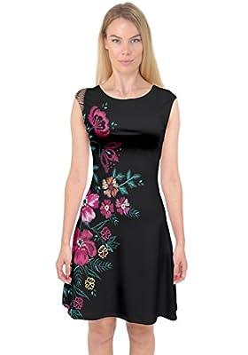 PattyCandy Women's Satin Bridal Nightgown Gift Elegant Floral Prints Kimono Bridesmaid Party Robes Size XS-3XL