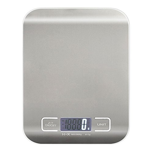 5KG/11LBS x 1g Electronic Compact Digital Kitchen Scale Diet Food Postal Mailing (Eds Scale)