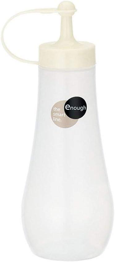 Japanese Squeeze Bottle Vinegar Pot w/Beige Cap 8oz #0247
