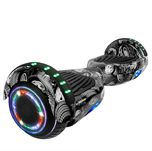 LONGTIME 6.5″ Hoverboard Self Balancing Scooter with LED Lights Flashing Wheels – UL Certified