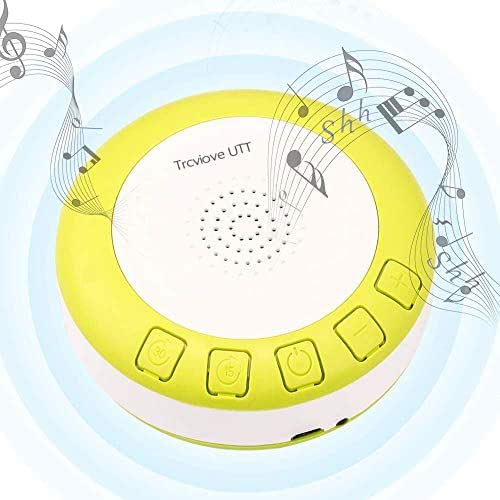 Portable Shusher Baby Sound Machine Yellow with Auto-Off Timer and Volume Control,Shusher for Newborns and Up, Yellow