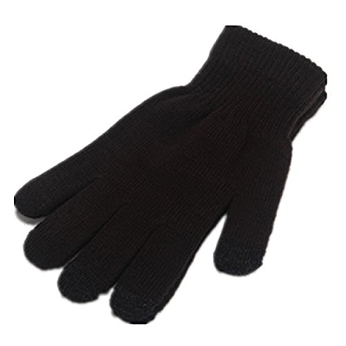 ITS RIDIC! Warm Knitted Stretch touchscreen/texting winter gloves with a soft texture. Just thick enough to not be bulky. Black