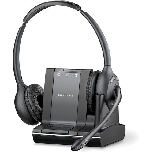 - Plantronics Over-the-head Binaural Lightweight Multi Device Wireless Noise-canceling Headset System