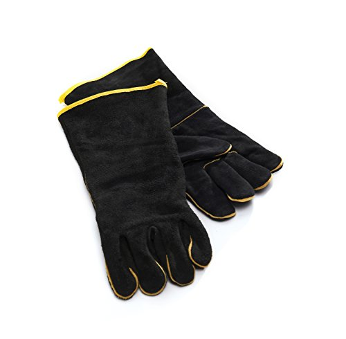 GrillPro 00528 Black Leather Gloves