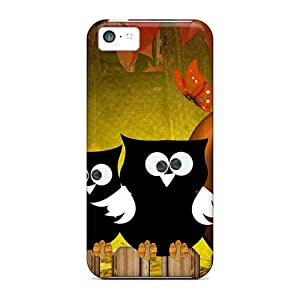 High Quality Hootie Autumn Owls Case For Iphone 5c / Perfect Case