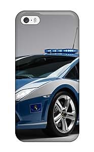 Fashion Tpu Case For Iphone 5/5s- 2009 Lamborghini Gallardo Lp560 Police Car Defender Case Cover