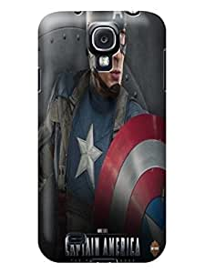 Beauty sincere design tpu skin case cover for Samsung Galaxy s4 of Avengers Captain America in Fashion E-Mall