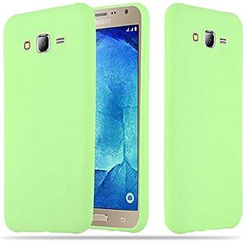 2ad1fccc514 Cadorabo Funda para Samsung Galaxy J7 2015 en Candy Verde Pastel - Cubierta  Proteccíon de Silicona