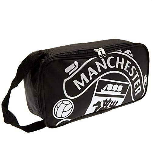 - MANCHESTER UNITED FC BOOT BAG - OFFICIAL BAG (RT) - FEATURES TEAM COLORS AND CREST - IMPORTED - FOR ALL MANCHESTER UNITED SOCCER FANS - QUALITY TEAM BAG WITH CREST DESIGN - MANCHESTER UNITED BOOT BAG
