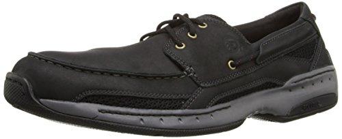 Dunham Men's Captain Boat Shoe,Black,8.5 D US (Goose Deck)