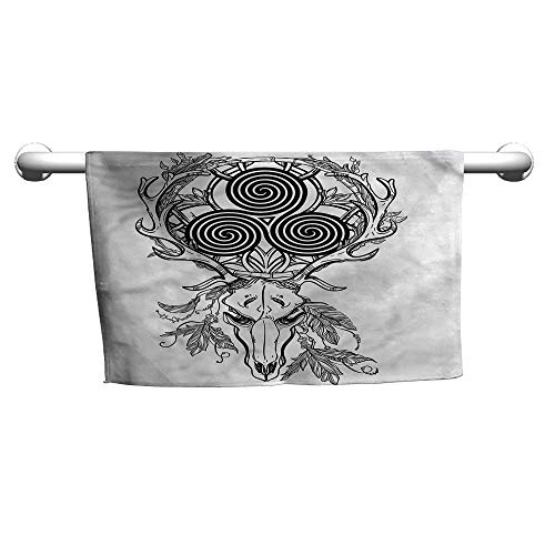Bensonsve Celtic,Deer Skull Feather Boho,Rustic Towel Racks for Bathroom