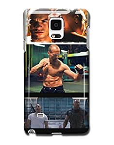 Tomhousomick Custom Design Fast and Furious 7 Forever Jason Statham and Vin Diesel and Paul Walker Case Cover for Samsung Galaxy Note 4 N9100 2015 Hot New Style