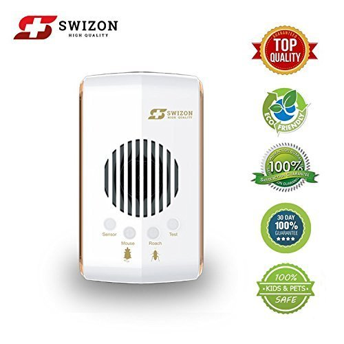 Ultrasonic Pest Repeller, Updated 2018 Version - Pest Control, Electronic Plug In - Best Repellent for Mice, Rat, Cockroach, Insects, Rodents, Spiders, Bugs, Eco-Friendly Indoor Non-Toxic Night-Light