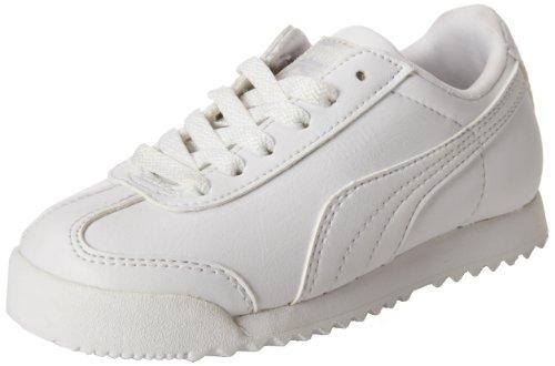 PUMA Roma Basic Kids Sneaker (Toddler/Little Kid/Big Kid), White/Light Gray, 11 M...