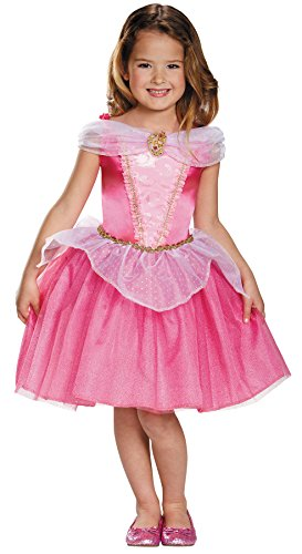 UHC Girl's Disney Princess Aurora Outfit Fancy Dress Kids Halloweem Costume, Child (4-6) (Disney Villain Costume)