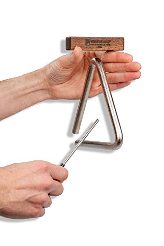 """TreeWorks Chimes TRE-HS06 Made in USA Solid Steel 6"""" Studio-Grade Triangle with Beater and Holder (VIDEO)"""