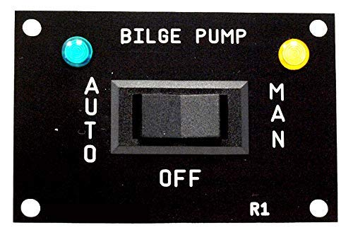 AQUALARM Bilge Pump 3 Way Switch, works with 12v, 24v, 32v ()