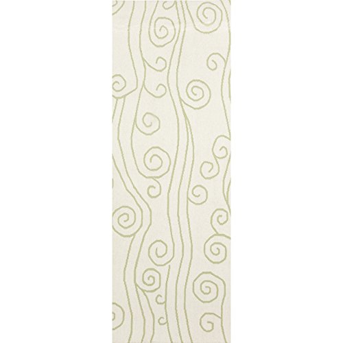 (Somerset Bay by Surya Boardwalk BDW-4006 Coastal Flatweave Hand Woven 100% Wool Lettuce Leaf 2'6