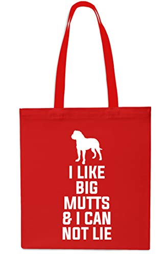 amp; Beach I Gym Grey Not Big 42cm Red Like 10 litres Mutts x38cm Bag Tote Shopping Lie I Can nPPtx