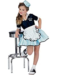 Rubies 50's Car Hop Diner Waitress Costume L