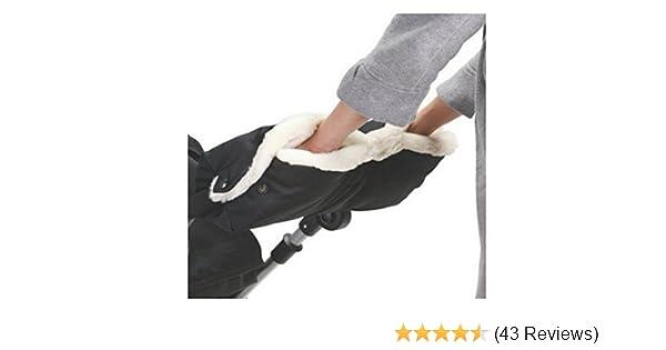 WINTER WARMER BABY PRAM PUSHCHAIR STROLLER HAND MUFF FINGERLESS GLOVES BLACK