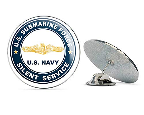 Military Pin Gold Hat (US Navy US Submarine Force Silent Service Gold Dolphins Military Veteran USA Pride Served Gift Metal 0.75