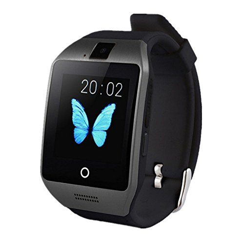 Wristel Bluetooth 1.54 inch HD Touch Screen Smart Watch Phone with Built In 8GB and Camera Support SIM Card TF Card for Android Samsung Galaxy Note,Nexus,Htc,Sony and iPhone-Black by wristel