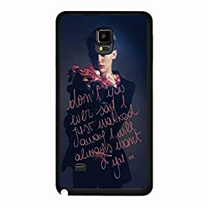 Unique Design(TM) Samsung Galaxy Note 4 Case Cover Slim Clear Disney Cartoon Anime Comics Character Miley Cyrus Hard Tpu Slim Fit Rubber Custom Black Protective Accessories for Girls