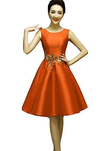 Weiblich Ball Orange Cocktail Hochzeit NEU Kleider emmani Damen kleidungstücke Party Schnürschuh Satin Celebrity ärmellos Mei Abendkleider blau Abend rot Damen orange Rot Heimkehr kurz wqOgTH