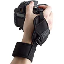 USA Gear Cámara profesional con manija y correa de mano con diseño de neopreno acolchada y placa de metal. Compatible con Canon, Fujifilm, Nikon, Sony y más cámaras DSLR, Mirrorless, Point & Shoot