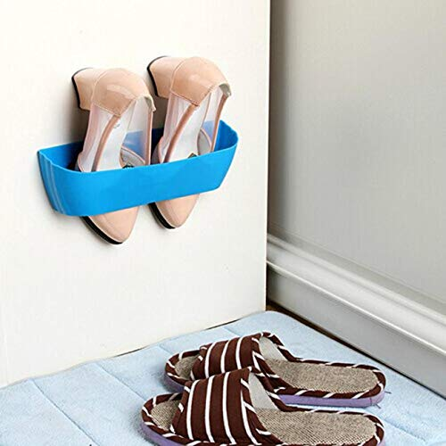 VHLL 2017 Hanging Wall Shoes Rack Door Wall Vertical DIY Shoe Rack Bathroom Shoe Rack