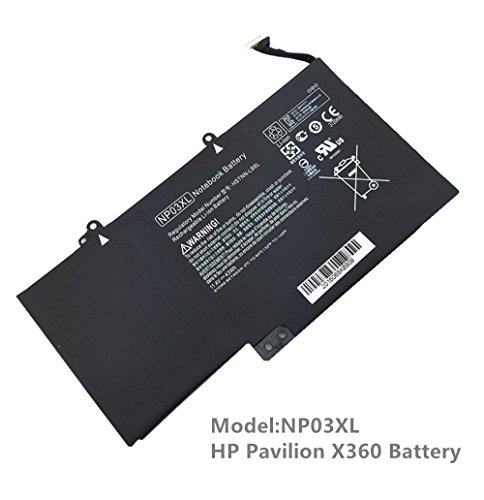 New NP03XL Notebook Battery for HP Pavilion X360 13-a010dx 13-a013cl 13-a113cl 13-A110DX 13-A113CL;HP ENVY 15-u010dx 15-u011dx Series Laptop [11.4V 43WH]--18-Month Warranty