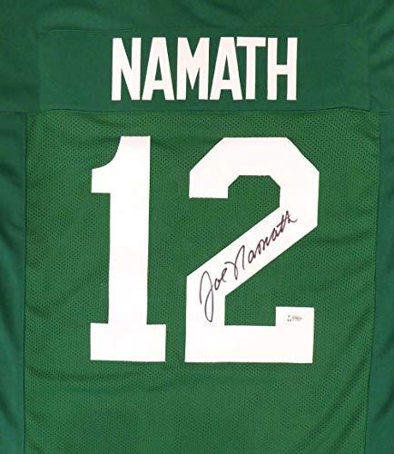 New York Jets Joe Namath Autographed Green Jersey Beckett BAS