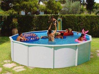 TOI - Piscina desmontable redonda modelo magnum 132 - 460x132: Amazon.es: Jardín