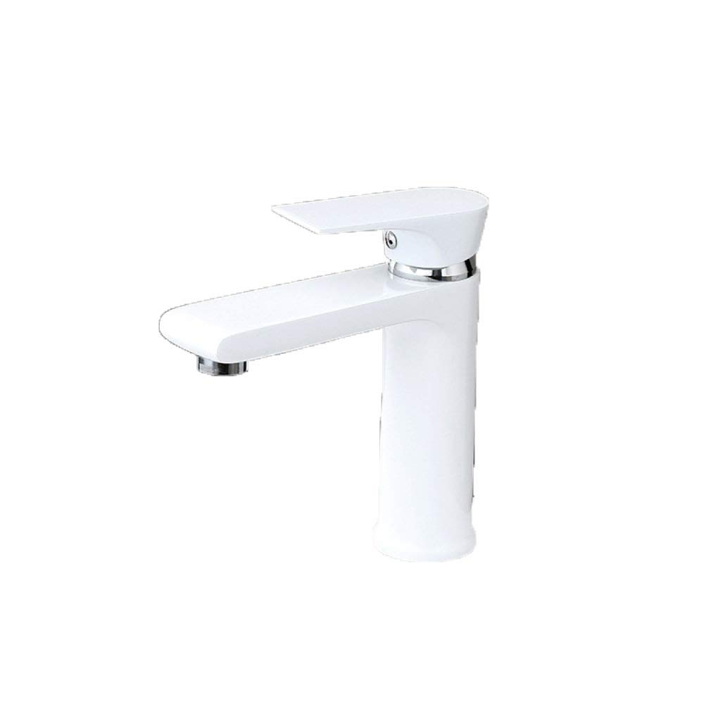 PZXY Faucet Basin Beautiful Single Hole Paint Single Faucet Bathroom Wrench All Copper Faucet