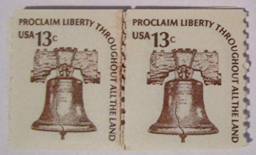 13c Liberty Bell Coil Line Pair Scott #1618 (2 Pairs)
