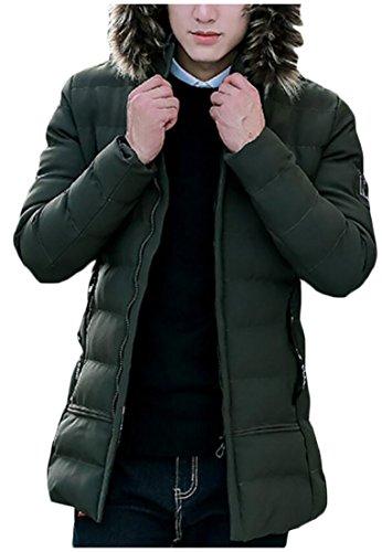 2 Giacca Collo Di Di Cappotto Inverno Uomini Outwear Pelliccia Down Cappuccio Generici Degli 67x4xq