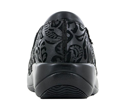 Alegria Womens Keli Professional Shoe Black Emboss