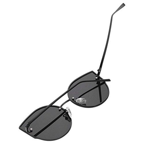 SODIAL UV400 ojo Gafas sol de grande moda S17014 mujer lujo de gafas de gato de negro sol Gafas de de marco de rSqwxtBrU
