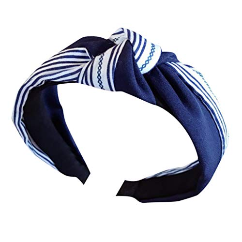 Pengy Women's Fashion Flower Hairband Printed Criss Cross Knotted Elastic Hair Band Head Wrap Hair Accessories