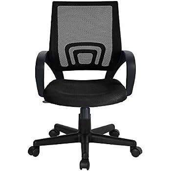 WOHOMO Mesh Back Office Chair Swivel Computer Desk Task Chair, Black