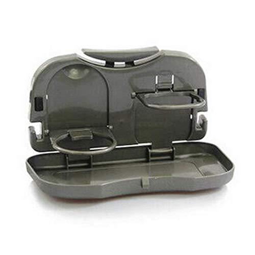 XSSD Portavasos de Sobremesa para Automóvil, Mesa Plegable para Automóvil, Bastidor Multifunción, Gris, 15 * 25 cm