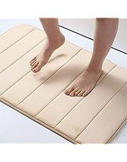 Olanly Memory Foam Soft Bath Mats Non-Slip Absorbent Bathroom Rugs Rubber Back Runner Mat for Kitchen Bathroom Floors
