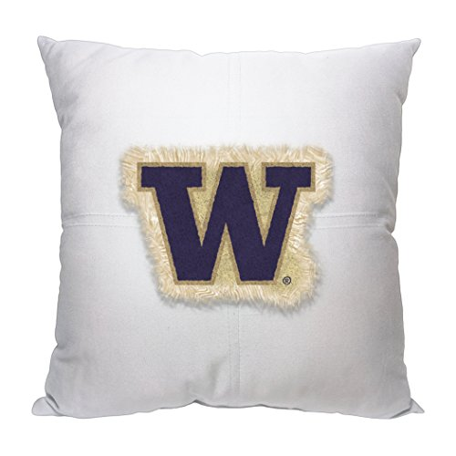 Officially Licensed NCAA Washington Huskies Letterman Pillow, 18