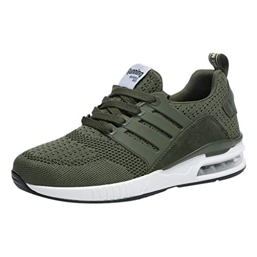 (Respctful✿Men's Fashion Athletci Sneakers Mesh Breathable Tennis Sports Flats Casual Indoor and Outdoor Shoes for Women Green)