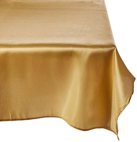 LinenTablecloth 60 x 126-Inch Rectangular Satin Tablecloth - Tablecloth Gold
