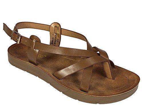 Sandalo Con Cinturino Perizoma In Bambù Per Donna